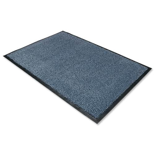 image of a blue dust control mat