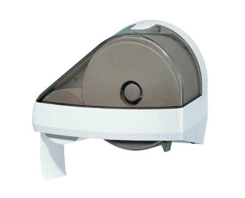 photo of a dual maxima toilet roll dispenser