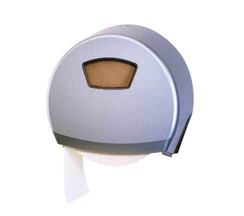 image of a jumbo satin toilet roll dispenser